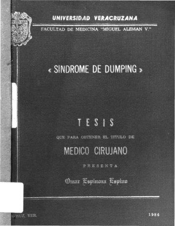 i SÍNDROME DE DUMPING » TESIS - Universidad Veracruzana