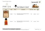 SerrentiS Hotel Supplies - Hotel cosmetics – Our hotel guest amenities line Prija, thinking environment!