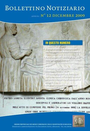 Dicembre 2009 - Ordine dei Medici di Bologna