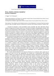 Stress, obesità e sindrome metabolica - News | Open Academy of ...