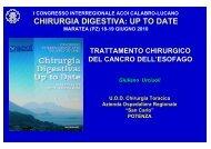 Cancro dell'esofago. Trattamento chirurgico.pdf - Ospedale San Carlo