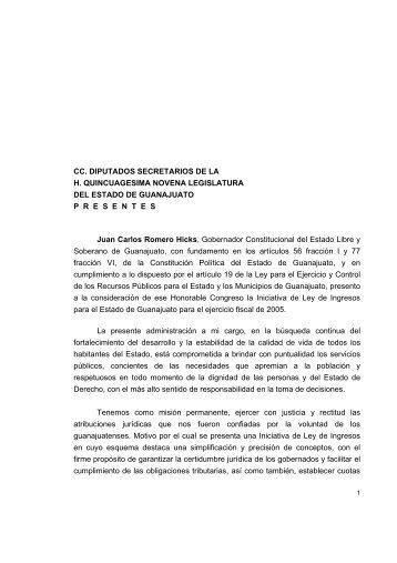 ley de ingresos para el estado de guanajuato - Congreso del Estado ...