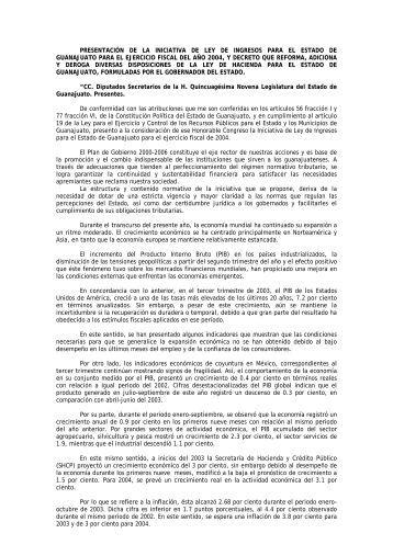 Diario de los Debates - INGRESOS 2004 - Congreso del Estado de ...