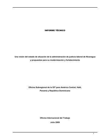 ACR Nicaragua Informe Técnico Administración ... - Poder Judicial