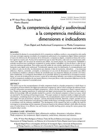 De la competencia digital y audiovisual a la competencia mediática ...
