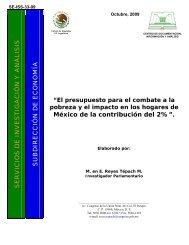 El presupuesto para el combate a la pobreza y el impacto en los ...