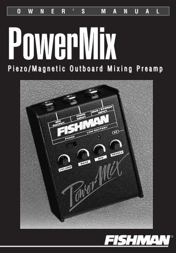 Power Mix User Guide - Fishman
