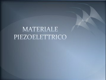 MATERIALE PIEZOELETTRICO