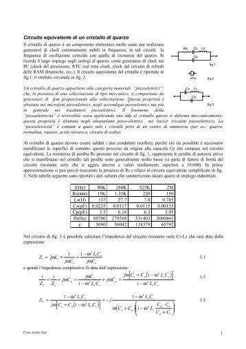 Cristallo di quarzo modello matematico - Hobby Elettronica