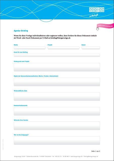 Briefingvorlage Herunterladen Designverign Gmbh