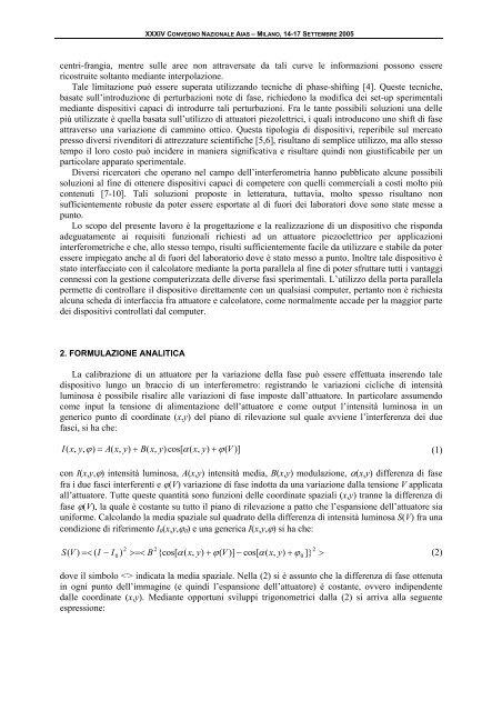 PROGETTAZIONE DI UN ATTUATORE PIEZOELETTRICO ... - AIAS
