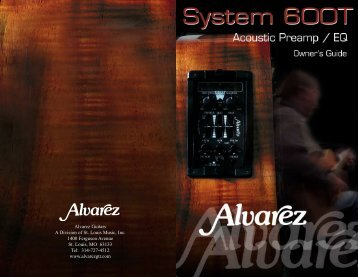 Alvarez System 600T Manual