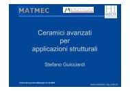 Ceramici avanzati per applicazioni strutturali - First