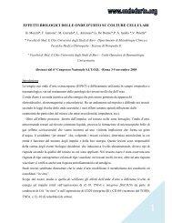 effetti biologici delle o de d'urto su colture cellulari - Onde d'Urto