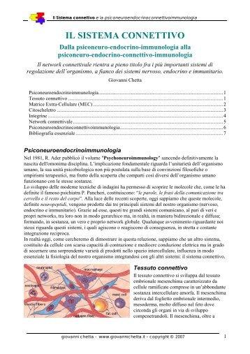 Il Sistema Connettivo - Chetta, Giovanni