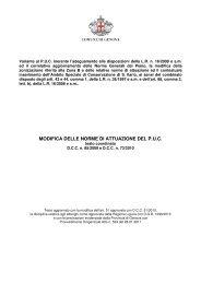 modifica delle norme di attuazione del puc - PUC - Comune di Genova