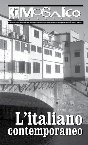 L'italiano contemporaneo - Comunità Italiana