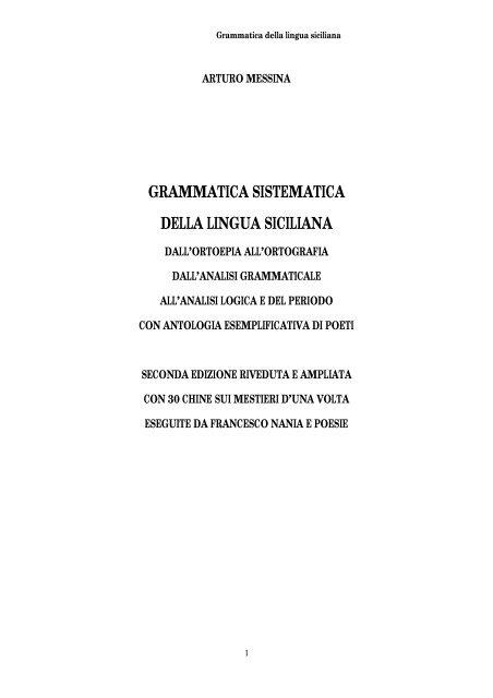 Poesie Di Natale In Siciliano.Grammatica Della Lingua Siciliana Antonio Randazzo