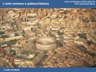 Modulo 1: Arte romana e paleocristiana - Rilievo Urbano