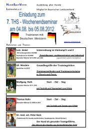 Trainieren mit Deutschen Meistern - Schnupperer-Team Mensch ...