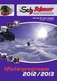 Winterprogramm 2013 downloaden - Schnurr Reisen GmbH