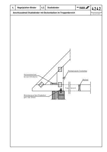 Studiobinder mit Deckenbalken - Ing.-Holzbau SCHNOOR