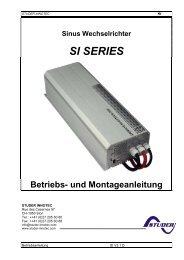 SI SERIES - Schoenau AG