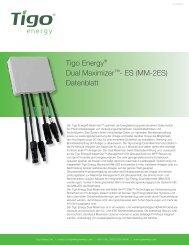 Tigo Energy® Dual Maximizer™- ES (MM-2ES ... - Krannich Solar