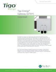 Tigo Energy® Gateway (GTWY) Datenblatt - Krannich Solar