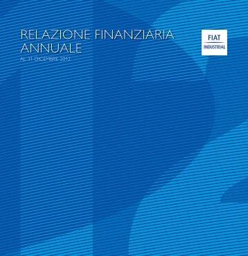 Relazione Finanziaria Annuale 2012 - FIAT Industrial
