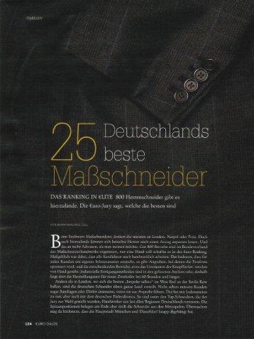 Liste: Deutschlands 25 Beste Maßschneider - Deumer