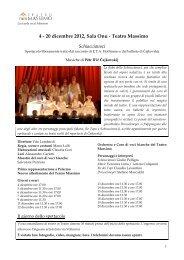 scheda di approfondimento - Teatro Massimo