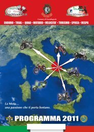 PROGRAMMA 2011 - Moto Club Guardiagrele