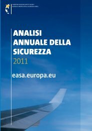 analisi annuale della sicurezza 2011 - European Aviation Safety ...