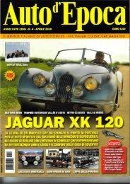 JAGUAR XK 1 - Associazione Auto Motor Mania Historic
