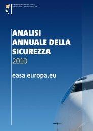 AnAlisi AnnuAle dellA sicurezzA 2010 - European Aviation Safety ...
