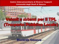Elementi di qualità nel trasporto pubblico locale Documento descrittivo