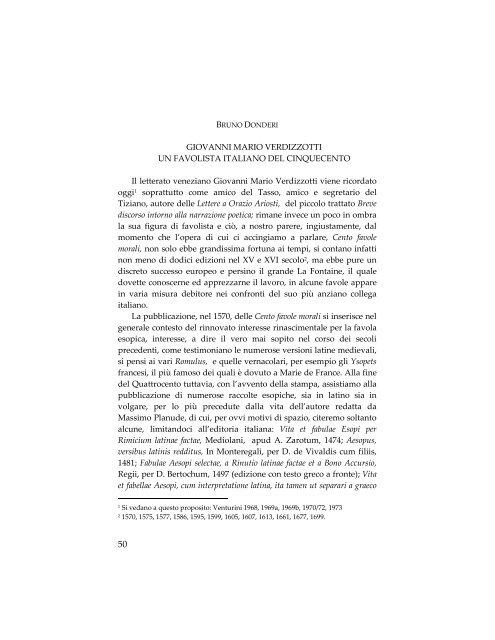 GIOVANNI MARIO VERDIZZOTTI UN FAVOLISTA ITALIANO DEL ...