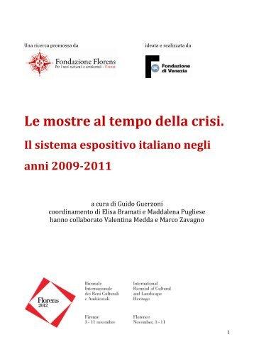 Scarica la ricerca in formato pdf - Fondazione Florens