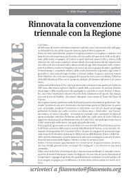 Rinnovata la convenzione triennale con la Regione - FITA Veneto
