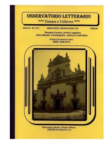 Osservatorio letterario ANNO 14. – NN. 73/74 MARZ.-APR./MAGG ...