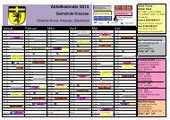 Abfallkalender 2013 Gemeinde Kreuzau