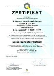 Betrieb Hürth PDF 846,1 kB - Schönmackers Umweltdienste GmbH ...