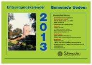 Kalender Uedem 13 - Schönmackers Umweltdienste GmbH & Co KG