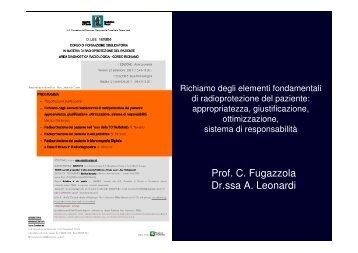 Prof. C. Fugazzola Dr.ssa A. Leonardi