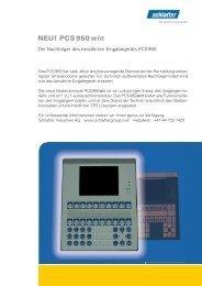 PCS 950 win - Schlatter