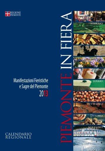 Calendario Fieristico regionale - Regione Piemonte