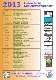 2013 Calendario MANIFESTAZIONI - Gargnano