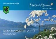 Manifestazioni 2013 - Comune di Ronco S. Ascona