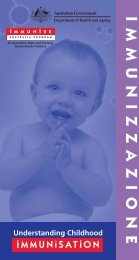 L'immunizzazione - Department of Health and Ageing